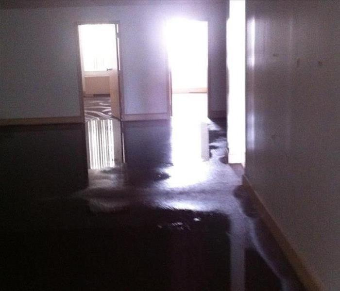 Commercial Water Damage – San Leandro Before