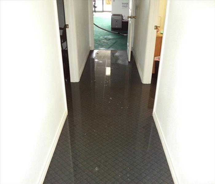 Storm Damage – Oakland Office Water Remediation Before