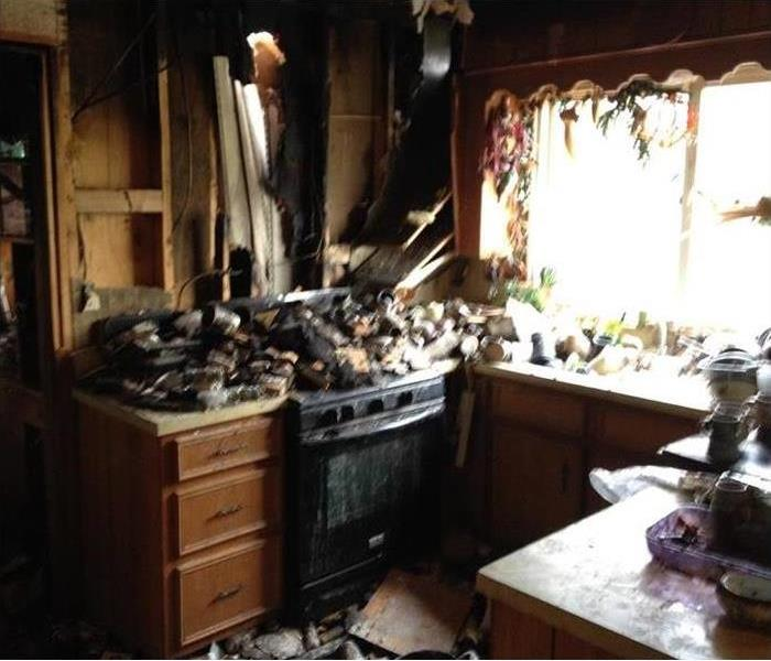 Fire Cleanup for an Oakland Kitchen Before