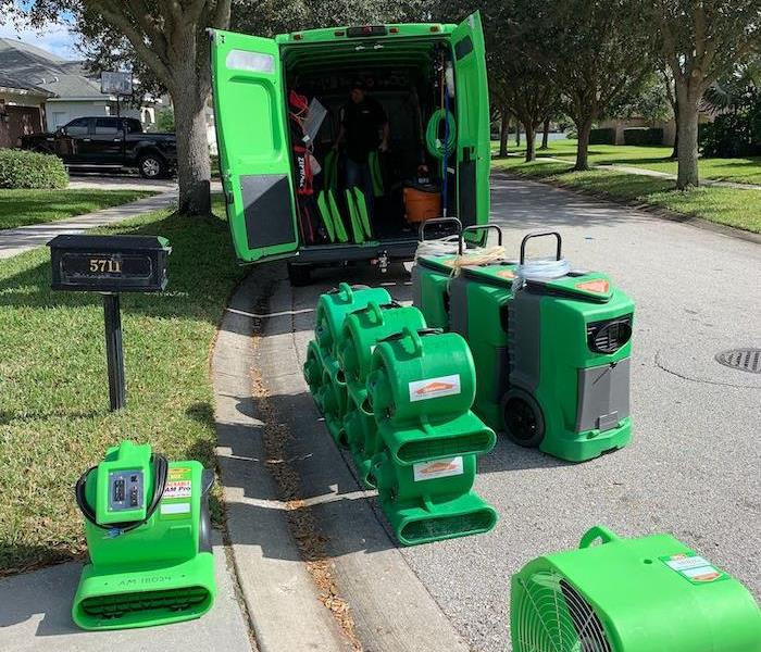 SERVPRO vehicle with equipment