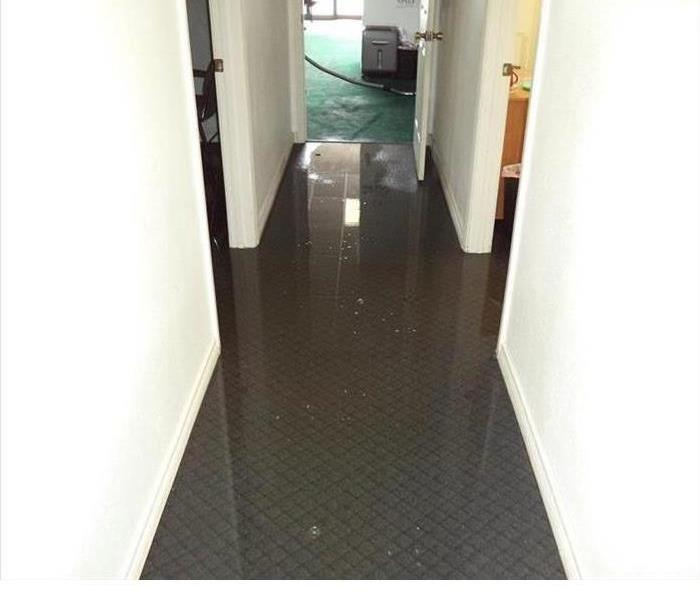 Water Damage Flooded Office